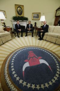 Obama Oval Office Bulls rug
