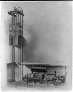 Possible original White House elevator